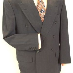 Hugo Boss Luxurious Blue-Gray Double-Breasted Suit